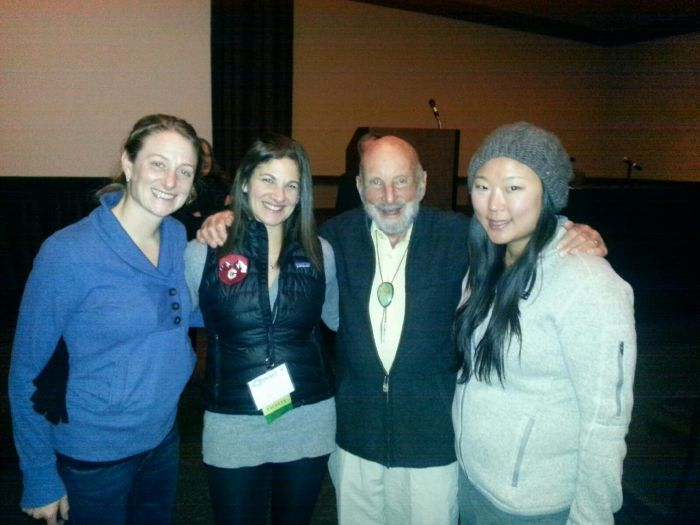 Dr. Tom Hornbein and the WMS girls at Perk City 2014