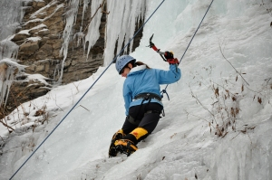 Me, enjoying ice climbing