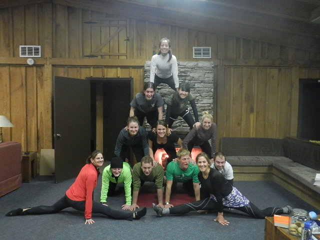 Post-Run Pyramid - Constructed by Dr. Freer