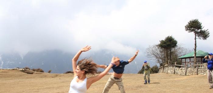 Cartwheeling in the Khumbu