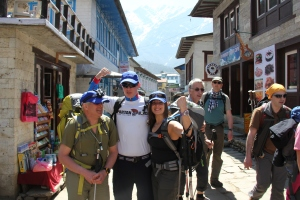 Flexing and ready for 18 days on the Khumbu
