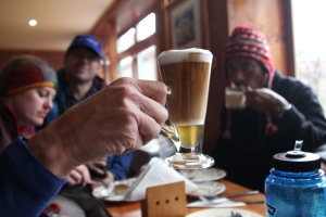 Proper coffee in Namche