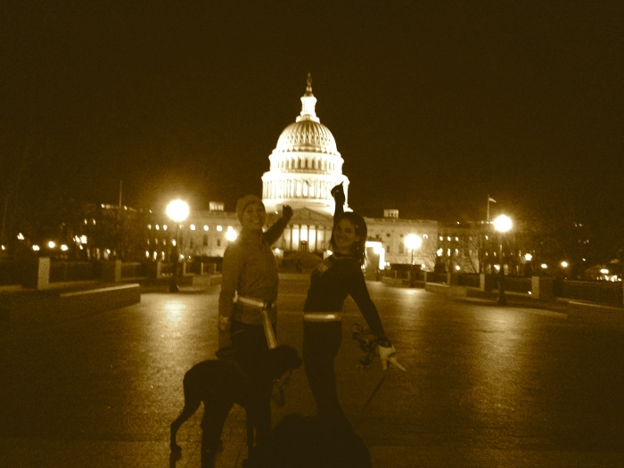 Midnight Running of the Monuments with the Planks and the dogs