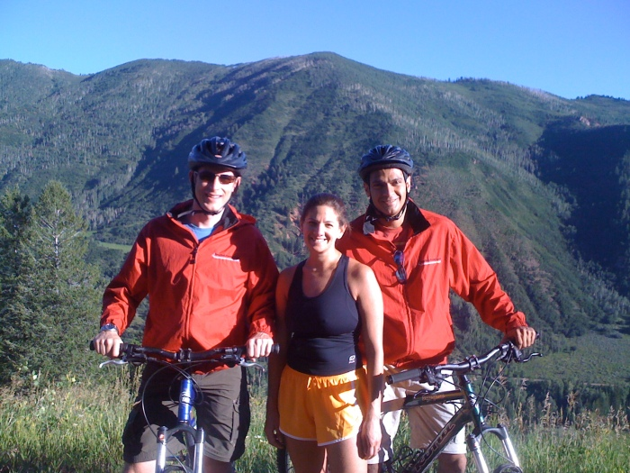 Ran into my Cornell Amigos on the Trail behind Timberline Condos in Snowmass, CO