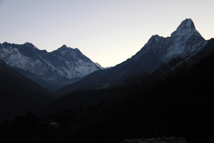 Sunrise on Easter Sunday in Tengboche