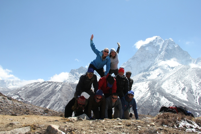 On an acclimatization hike above Namche