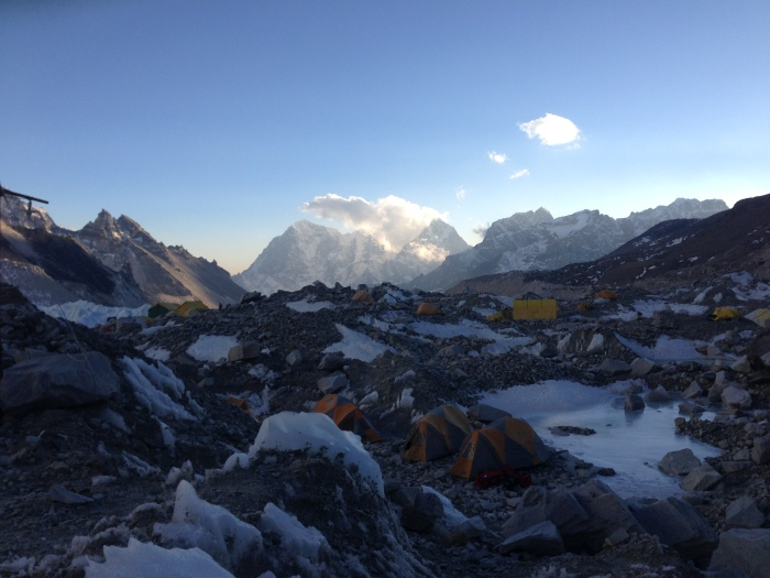 Everest Base Camp near sunset
