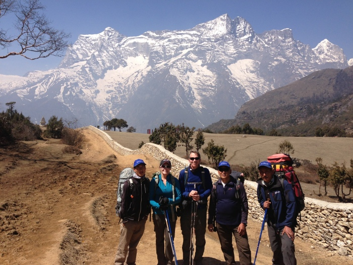 Another gorgeous day in the Khumbu - final trekking day