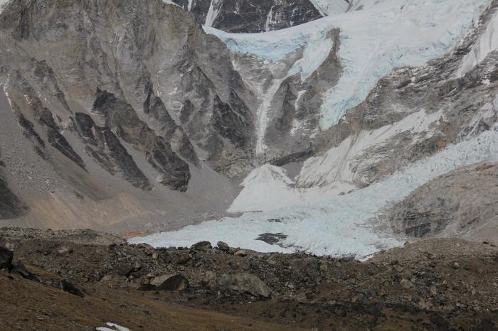 Everest Base Camp at the base of the Khumbu Icefall