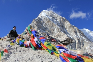 Kalapatthar (meaning Black Rock), a one-two hour trek from Gorakshep, offers the most spectacular views of Everest