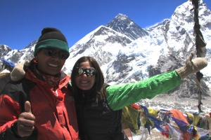 with Dorji Sherpa atop Kalapatthar