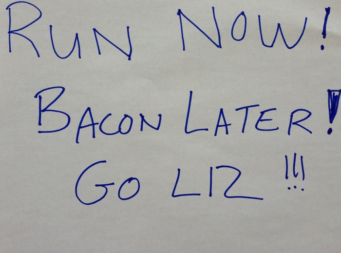 Thanks from all Liz's running Broad Street!