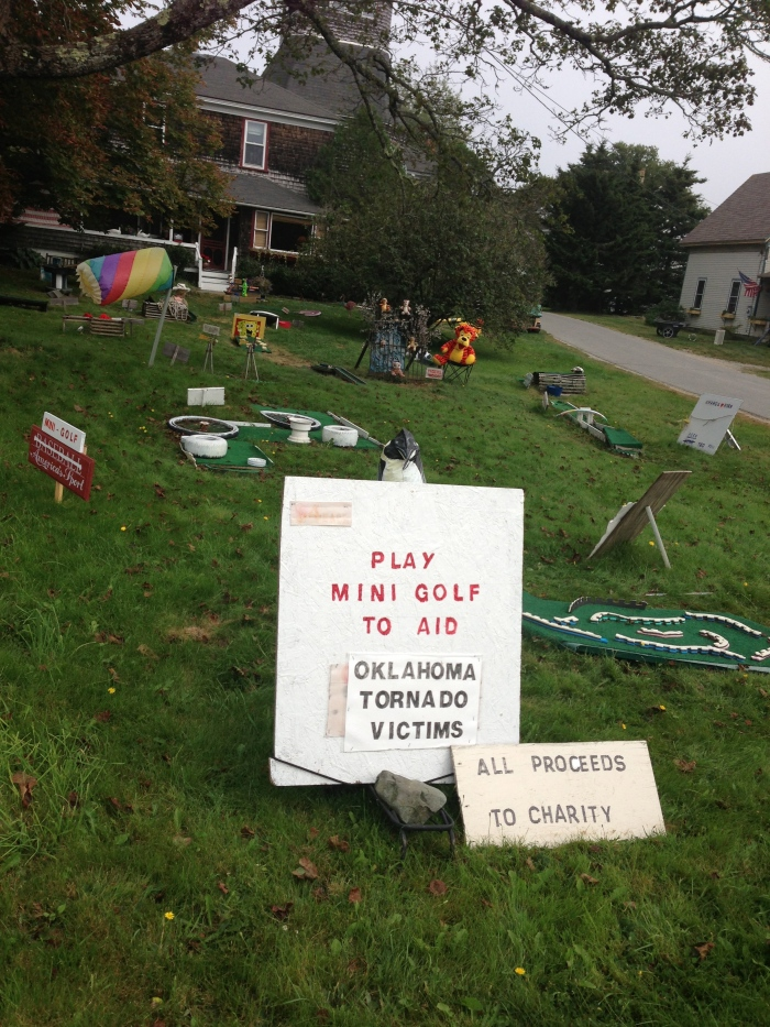 Islesford Mini Golf - payment by the honor system