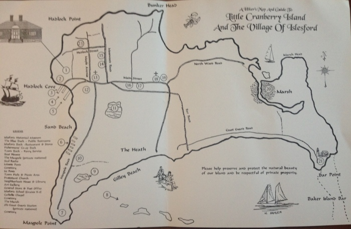 A Hiker's map of Little Cranberry Island and Islesford
