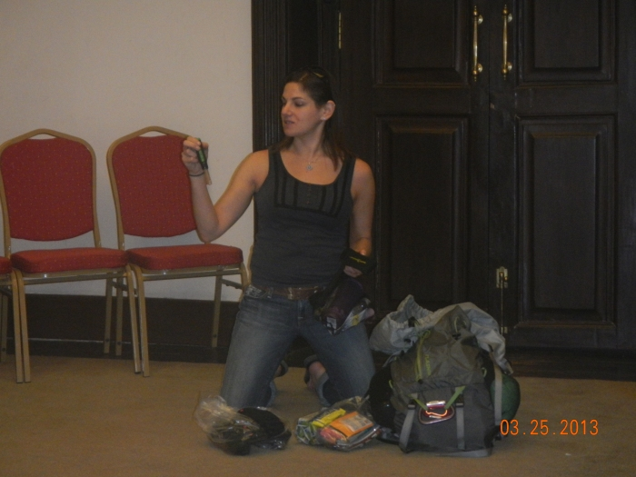 Hands-on lecture on Building Your Wilderness Medicine Kit - I broke down my own kit for the group.