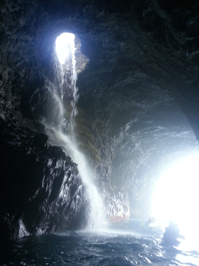 Open-ceiling caves