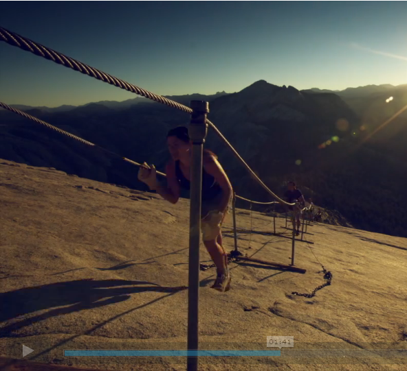 Screenshot of me from the Vimeo taken by a talented techy friend and fellow outdoor enthusiast