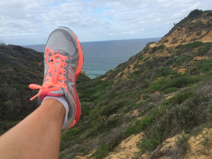 My new ugly-but-comfy shoes testing out Torrey Pines