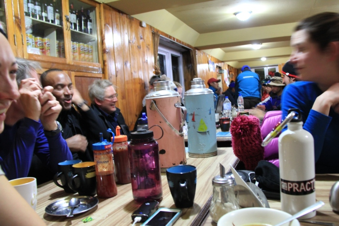 Tea time in a tea house on the Khumbu Trail