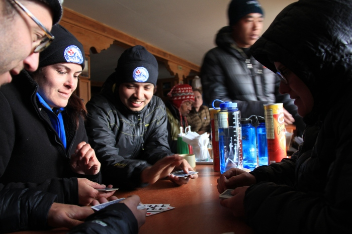 Keeping warm and sharp in Lobuche